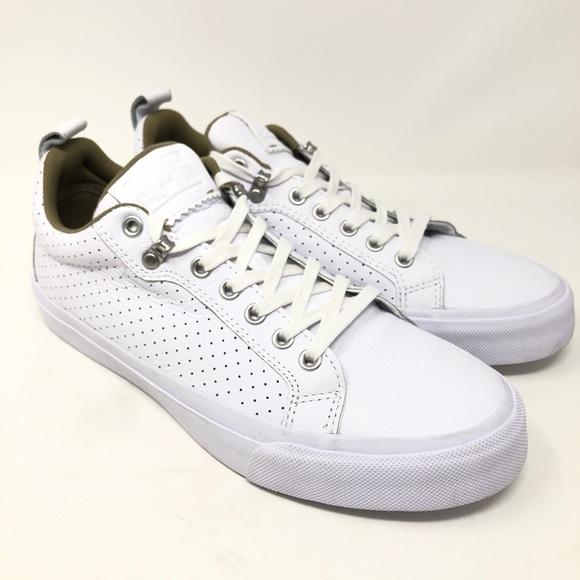 e56ae3b1a4e7e0 Converse Fulton OX Leather Perforated Shoes